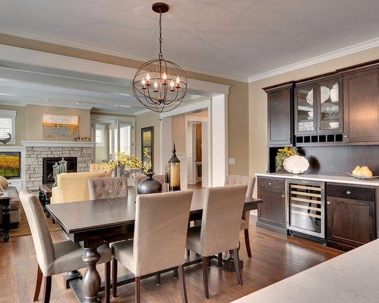 dining room buffet with wine cooler | houzz