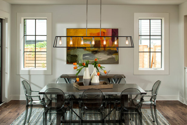 Transitional Dining Room by Highmark Builders