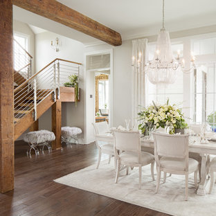 Example of a country dining room design in New Orleans