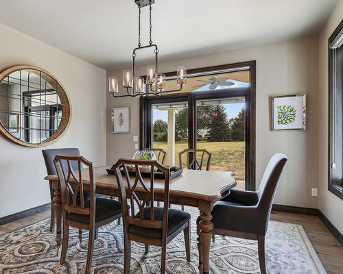 Mid Sized Craftsman Brown Floor And Dark Wood Floor Enclosed Dining Room  Idea In Other