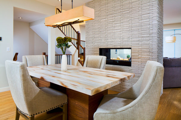 Eclectic Dining Room by Cedarglen Homes