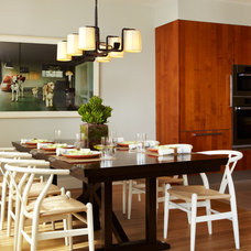 Contemporary Dining Room by Jacob Snavely Photography