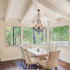 Rustic Dining Room by Courtney Jones - Carmel Realty Company