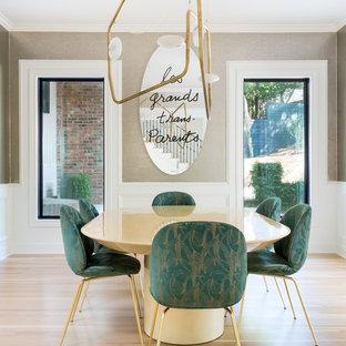 Dining room - transitional dining room idea in Austin