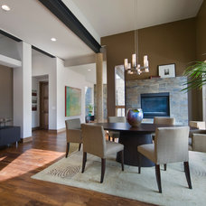 Contemporary Dining Room by Teri Fotheringham Photography