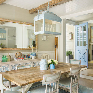 Inspiration for a coastal dining room remodel in Los Angeles
