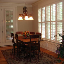 Traditional Dining Room by Southern Accent Shutters and Blinds