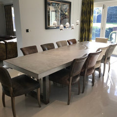 3 4 Metre Extendable Polished Concrete Dining Table