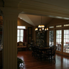 Traditional Dining Room by Joseph M Marchese, Architect