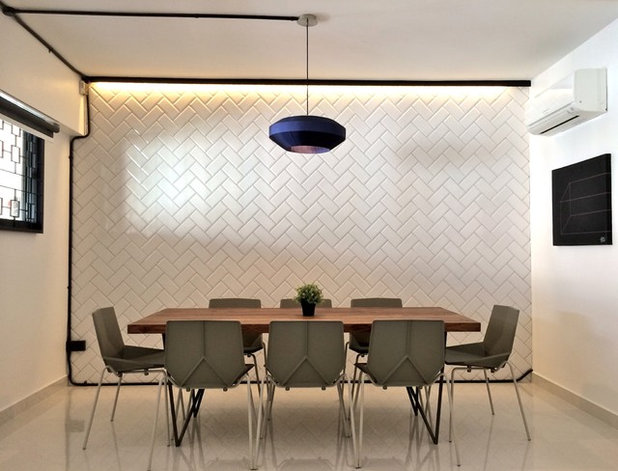 Contemporary Dining Room by the association