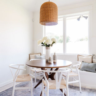 Inspiration for a shabby-chic style dining room remodel in Oklahoma City