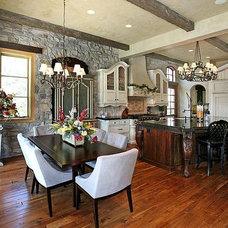 Mediterranean Dining Room by Dynamic Capital LLC