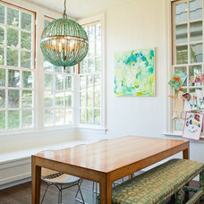 Transitional Dining Room by Alicia Weaver Design, LLC