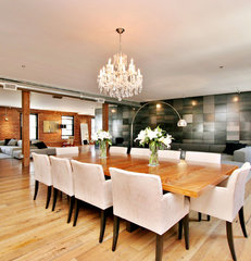 modern dining room by Todd Davis Architecture