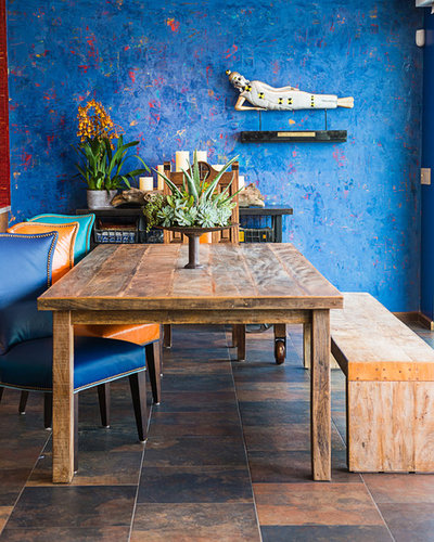 Eclectic Dining Room by 1 Man of the Cloth