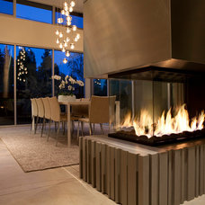 Contemporary Dining Room by Montigo Fireplaces