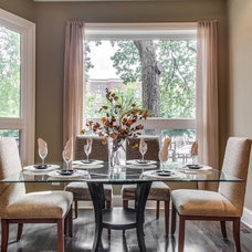 Transitional Dining Room by Steele Consulting Group
