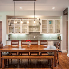 Transitional Dining Room by Venture Architecture
