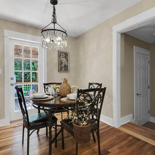 Inspiration For A Farmhouse Medium Tone Wood Floor And Brown Kitchen Dining Room Combo