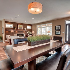 Craftsman Dining Room by Sustainable Nine Design + Build