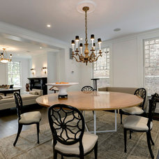 Transitional Dining Room by Ditto Residential