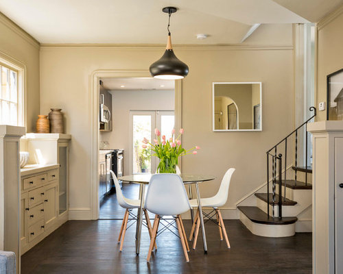 Inspiration For A Modern Dark Wood Floor Dining Room Remodel In San Francisco With Beige Walls