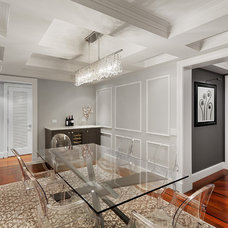 Transitional Dining Room by BuiltIN studio