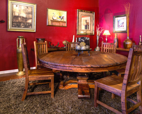 """72"""" round mesquite dining table"""