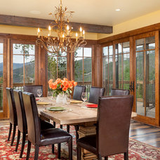 Traditional Dining Room by Pinnacle Mountain Homes