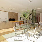 images of galley style kitchens open galley kitchen and dining area contemporary 7487