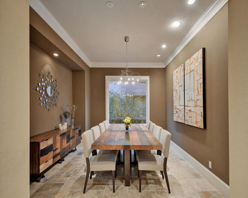 Dining Room Design Ideas Remodels Photos With Brown Walls