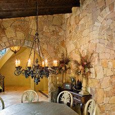 Mediterranean Dining Room by Sendero Homes