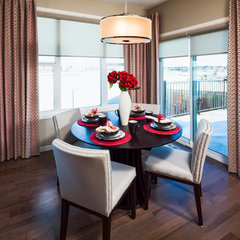 contemporary dining room by Cedarglen Homes