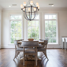 Transitional Dining Room by Toulmin Homes