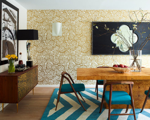 Houzz Wallpaper Dining Room: Gold Wallpaper