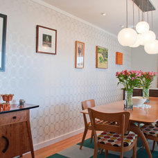 Midcentury Dining Room by C W Quinn Home