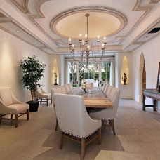 Mediterranean Dining Room by Canaday Group