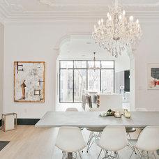 Transitional Dining Room by Jensen C. Vasil  Architect PC