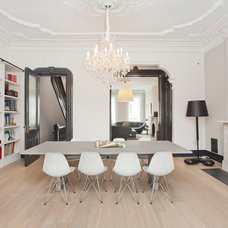 Transitional Dining Room by Jensen C. Vasil  Architect PC