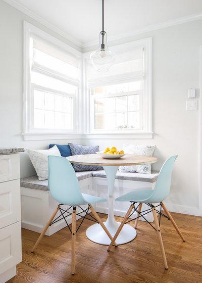 Transitional Dining Room by Larina Kase Interior Design