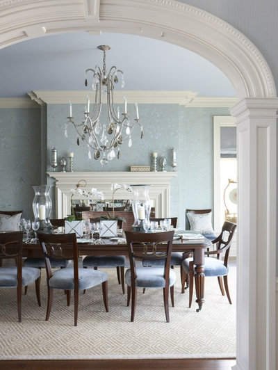Traditional Dining Room by Rinfret, Ltd.