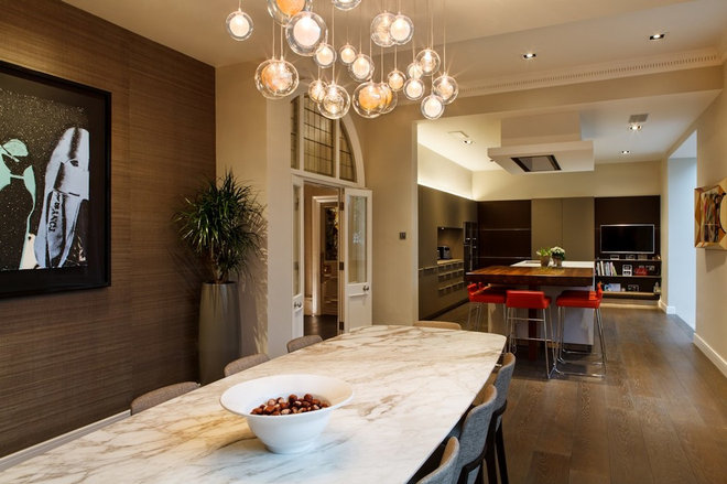 Contemporary Dining Room by Brilliant Lighting