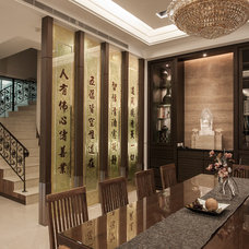 Asian Dining Room by Oliver Interior Design