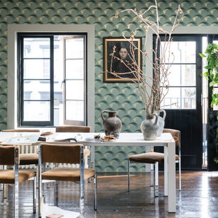 A dining room in Arcade BP 5307 by Farrow & Ball