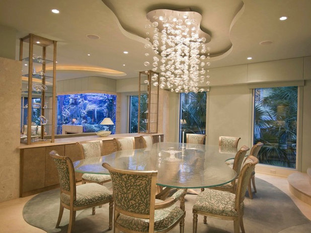 Beach Style Dining Room by Dezign Inspirations/ Home Design Resource