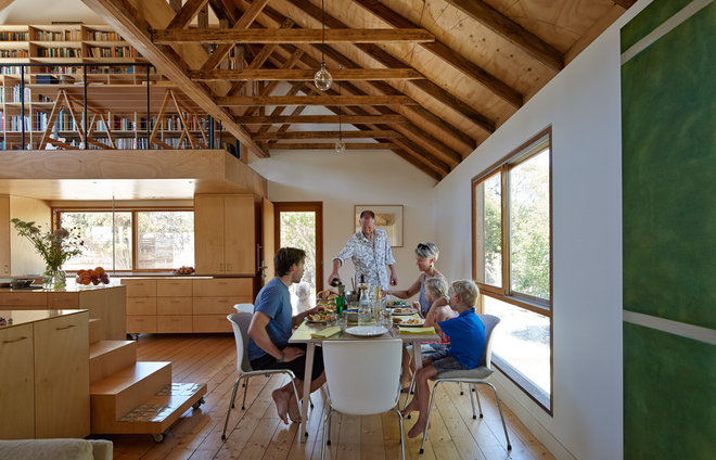 Farmhouse Dining Room by Andrew Simpson Architects