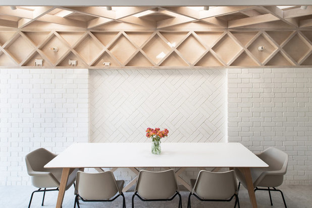 Contemporary Dining Room by Forgeworks Architects Ltd