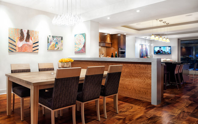 Contemporary Dining Room by CG&S Design-Build