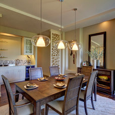 Transitional Dining Room by crestviewdoors