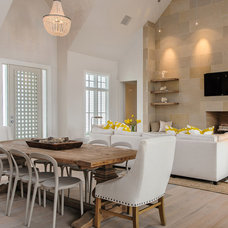 Transitional Dining Room by Carrie Roby Interiors, LLC